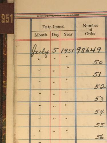 Antique 1913 Wells County North Dakota Registry of County Warrants Book Criminal-5