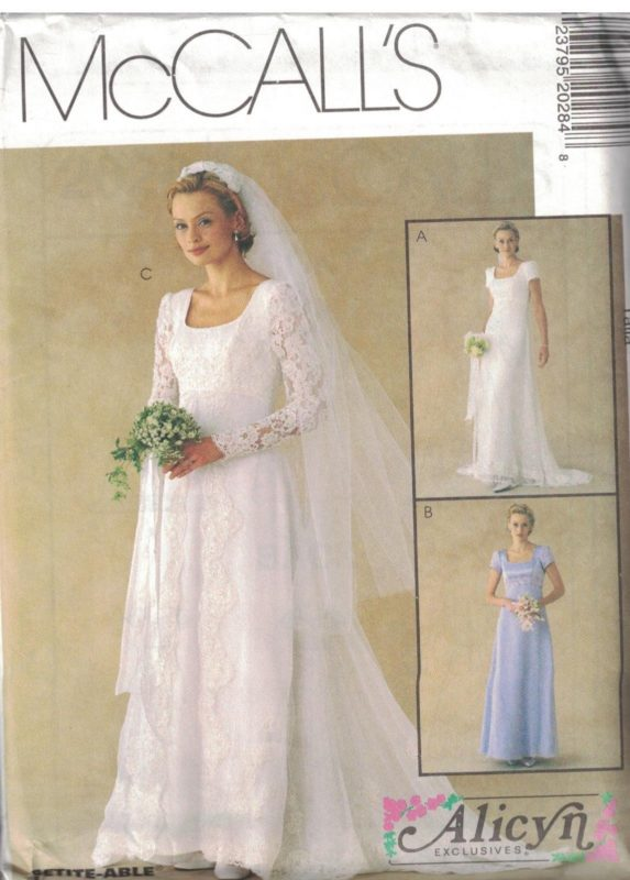2028 UNCUT McCalls Sewing Pattern Misses Alicyn Exclusives Wedding ...
