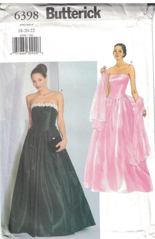 6398 UNCUT Vintage Butterick SEWING Pattern Misses Evening Dress ...