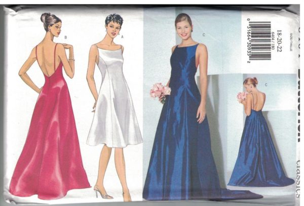 6404 UNCUT Vintage Butterick SEWING Pattern Misses Evening Dress ...
