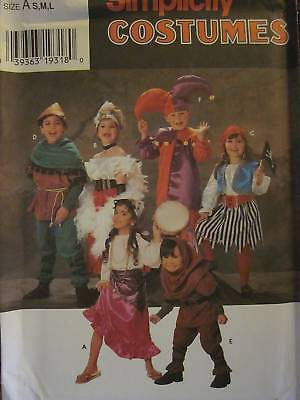 7294 Vintage Simplicity Sewing Pattern Childs Halloween Costumes Sm