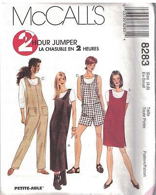 8283 Vintage McCalls SEWING Pattern Misses Jumper Jumpsuit Romper ...
