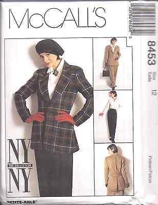 8453 UNCUT McCalls SEWING Pattern Misses Lined Jacket Shirt Pants NY ...