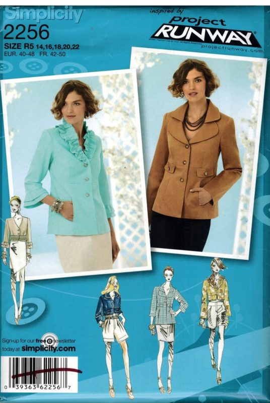 2256 Uncut Simplicity Sewing Pattern Misses Project Runway Jacket