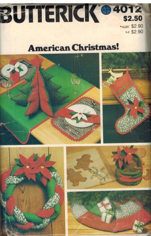 4012 Vintage Butterick Sewing Pattern Craft American Christmas