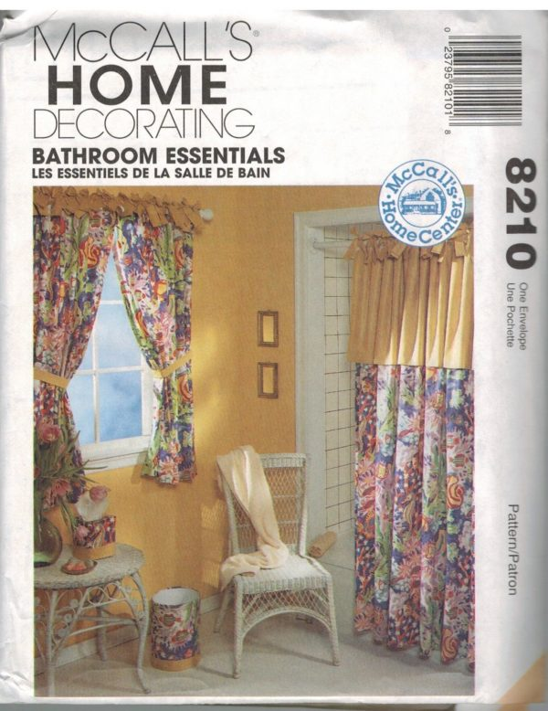 8210 UNCUT Vintage McCalls Sewing Pattern Home Decor Bathroom ...