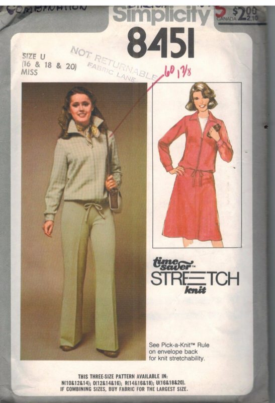 8451 Vintage Simplicity Sewing Pattern Misses Stretch Knit Jacket