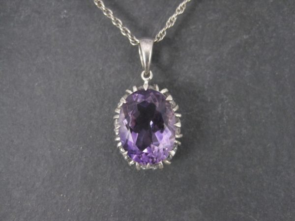 Large vintage sterling amethyst white topaz pendant necklace white topaz pendant necklace fine aloadofball Choice Image