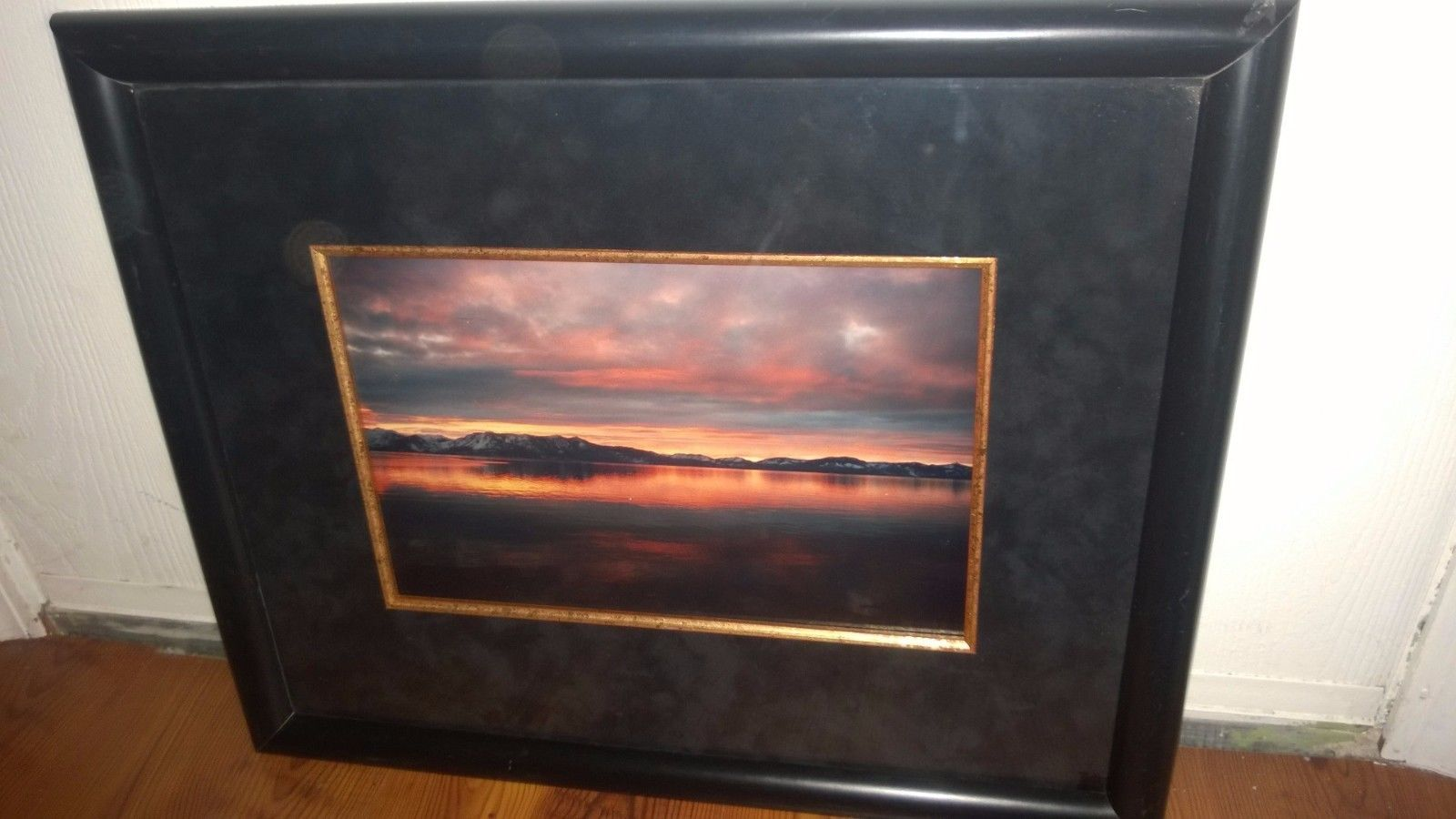 Framed Picture Sunset in Black Frame 16\