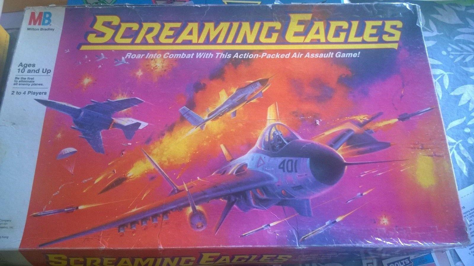 Vintage* Screaming Eagles Board Game - Milton Bradley (1987) Air ...