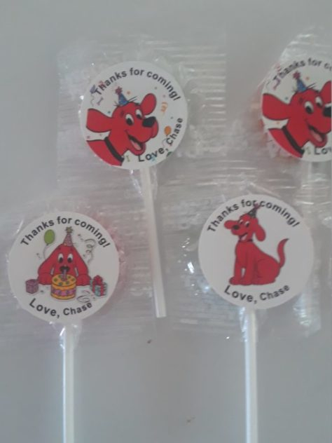 Clifford The Big Red Dog Party Favors Lollipops Birthday Baby Shower