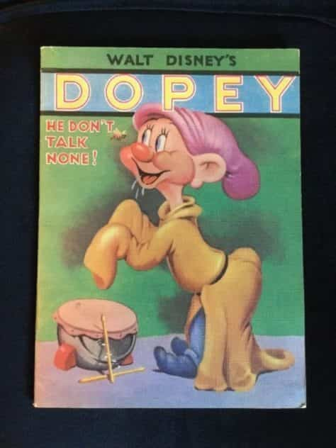 walt-disney-linen-like-book-dopey-he-dont-talk-none-whitman