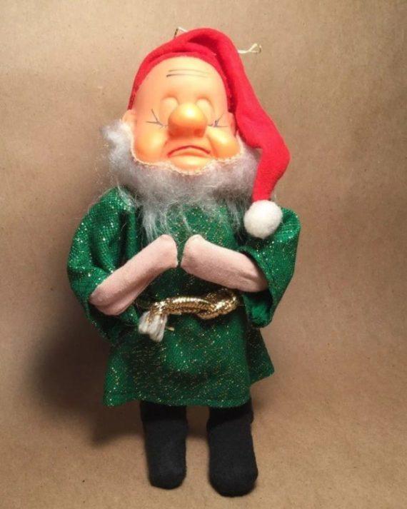1960s-jestia-thankful-elf-in-green-gold-tunic-holiday-ornament-tkr-725