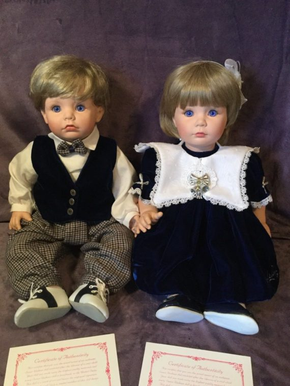 susan-wakeen-christmas-boy-and-silver-bells-girl-limited-edition-dolls