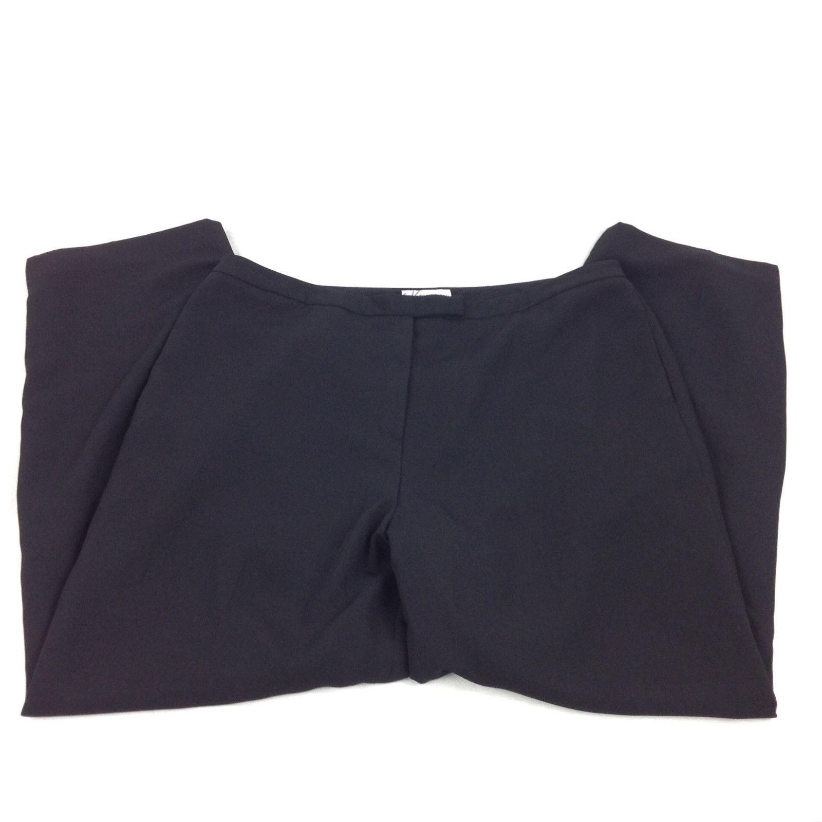 389554af41 Dress Barn Womens Plus Size 18 Black Dress Pants Lined Office Wear ...