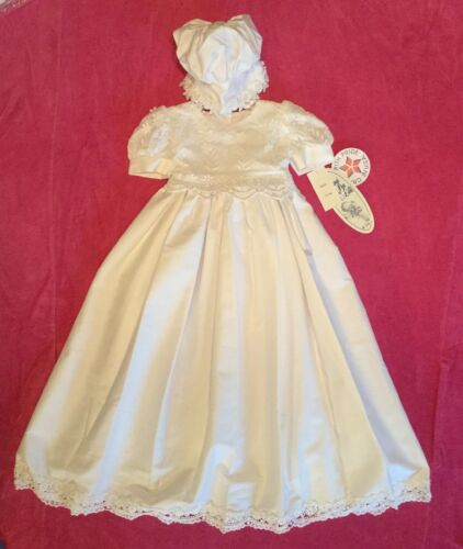 7bbb479a72526 Lito Heirloom Collection Kayla Ivory Christening Dress   Bonnet ...