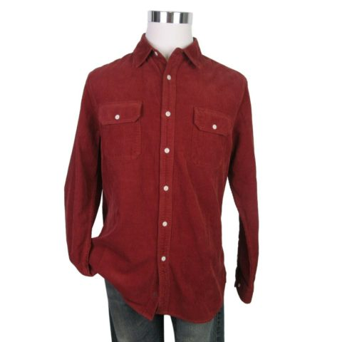 ag-benning-slim-fit-utility-shirt-tannic-red-size-large-mens-button-l-s-new-188