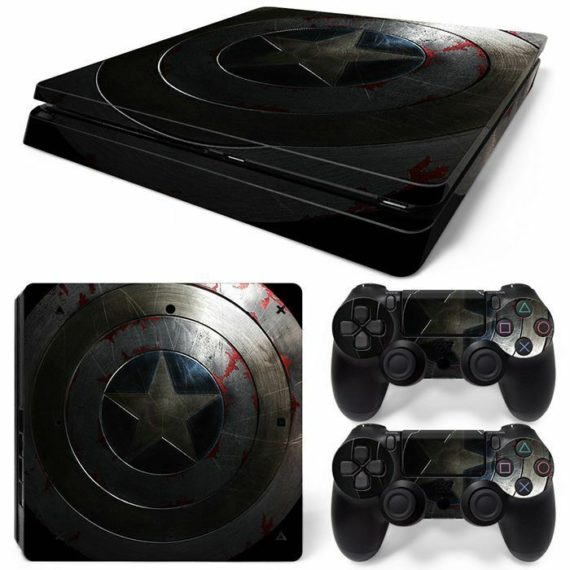 america-star-ps4-slim-console-2-controllers-decal-vinyl-art-skin-wrap-sticker