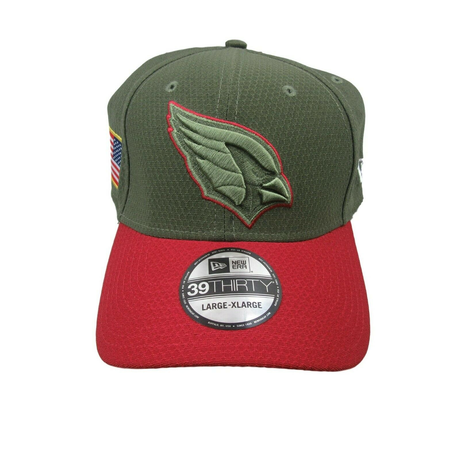 Arizona Cardinals New Era Salute to Service Size Large XL Fitted Hat ... adfa6b9ff81