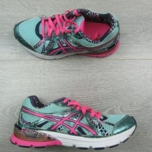 asics-womens-gel-preleus-running-shoes-size-7-5-aqua-blue-pink-t480n
