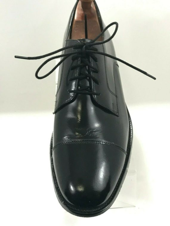 bostonian-luxe-oxford-black-leather-captoe-mens-shoes-size-12n