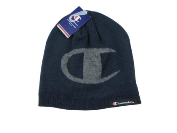 champion-logo-navy-blue-knit-beanie-cap-one-size-fit-new