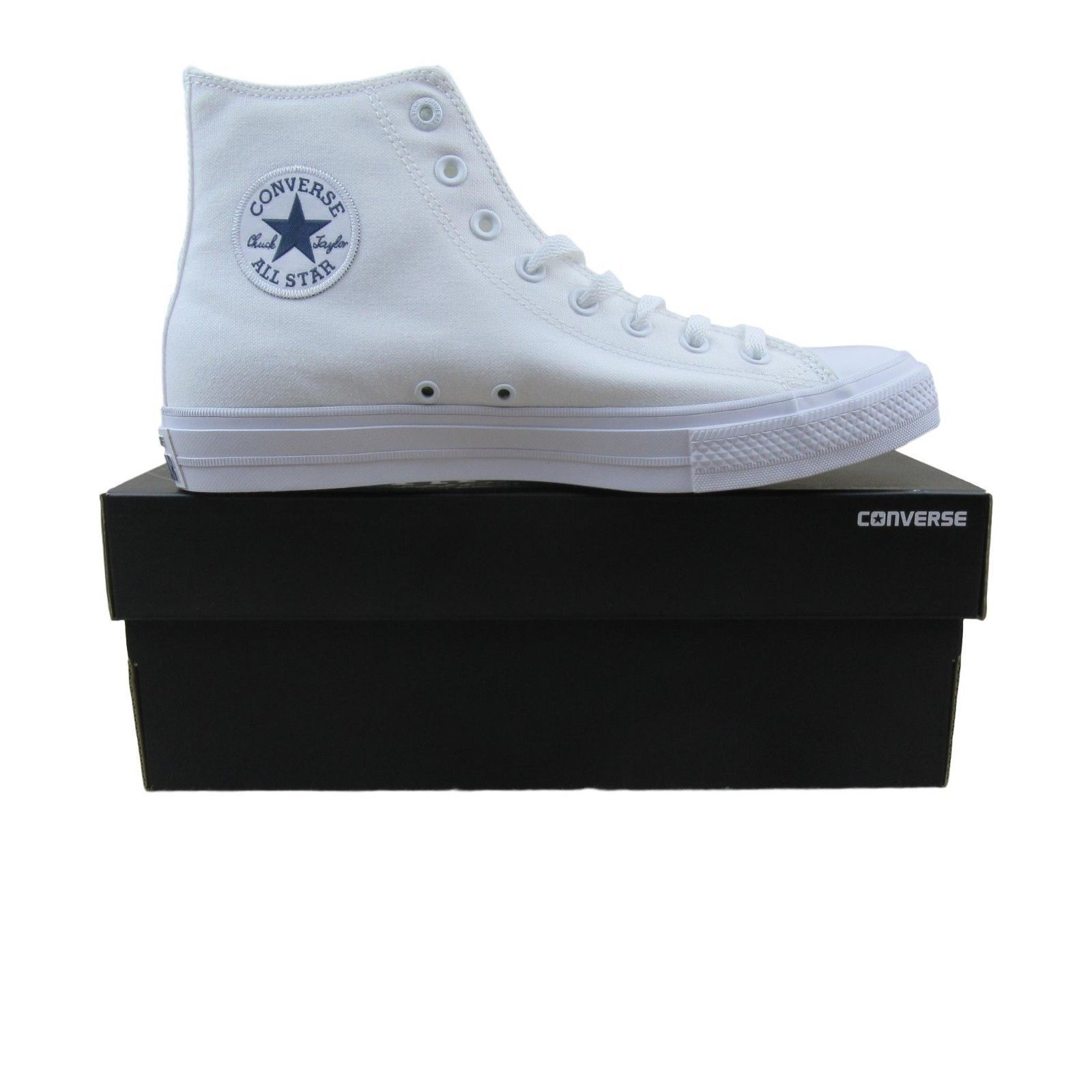 75770bee85108 Converse Chuck Taylor All Star II Hi Shoes Lunarlon White 150148C ...