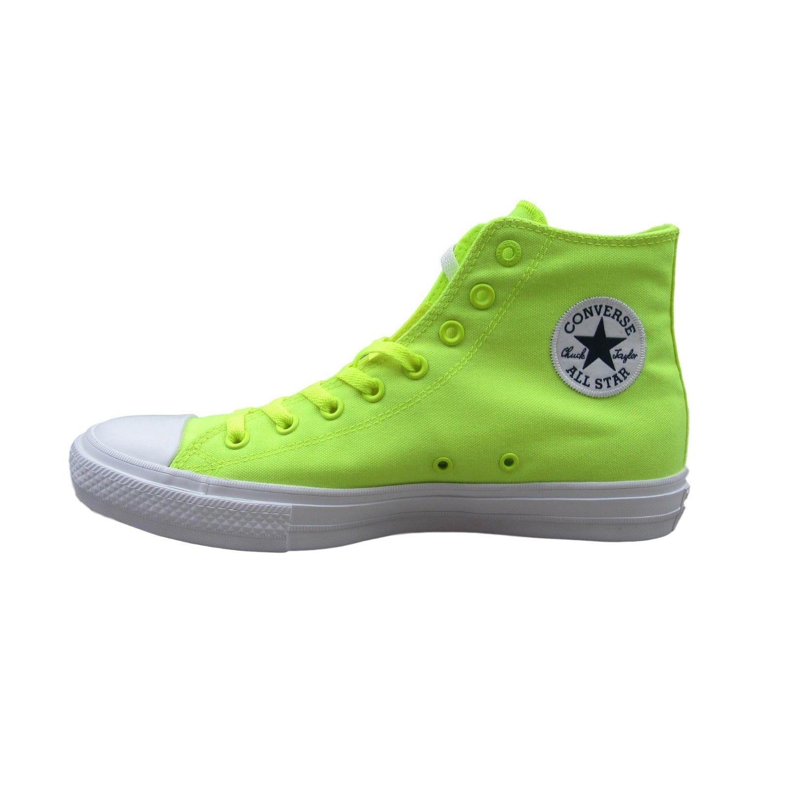 5698ecc9dd625c Converse Chuck Taylor All Star II Size 10 Mens Lunarlon Volt Green ...