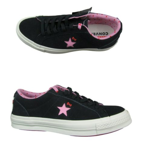 b2dbdcd9a5a7 Converse Hello Kitty One Star Ox Mens Size 6 Womens Size 8 Black ...