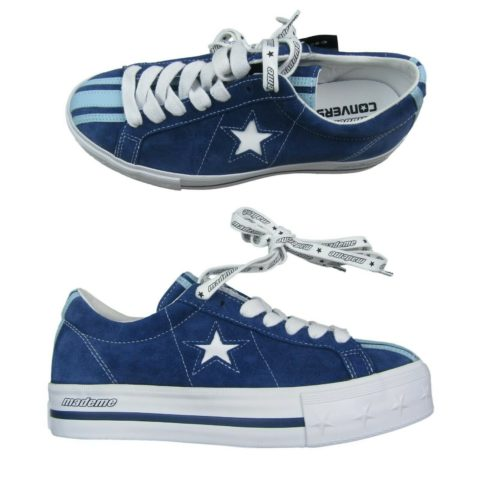 "c4cf1b1a1ff0 Converse One Star ""Made Me"" Platform OX Womens Shoes Size 9 Blue White  561395C"