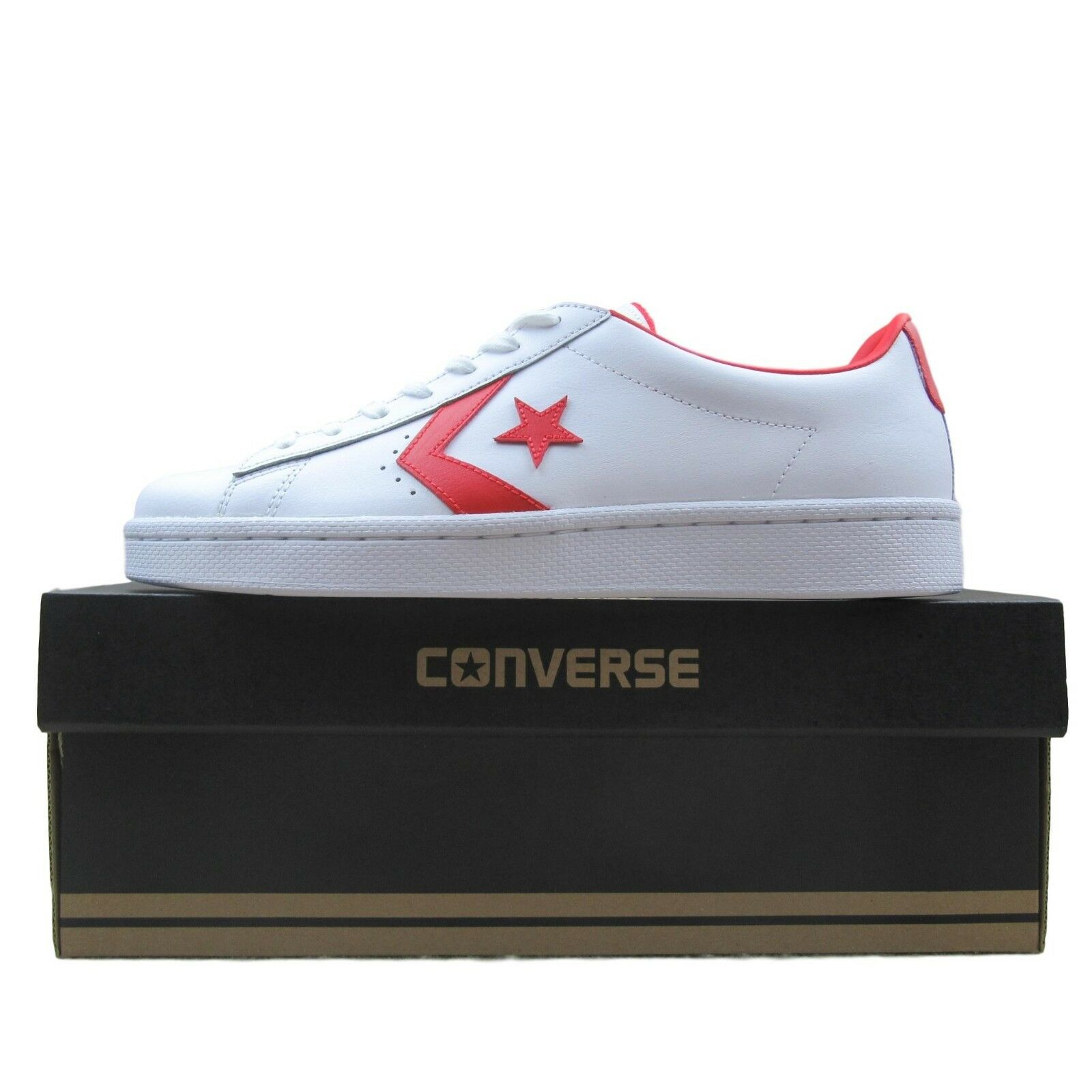 1ac7778df5be Converse PL 76 Ox Shoes Size 10 Mens Red White Classic 157423C New