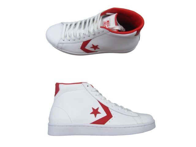 828a81786655 Converse Pro Leather 76 Mid Shoes Size 12 Mens White Casino Red ...
