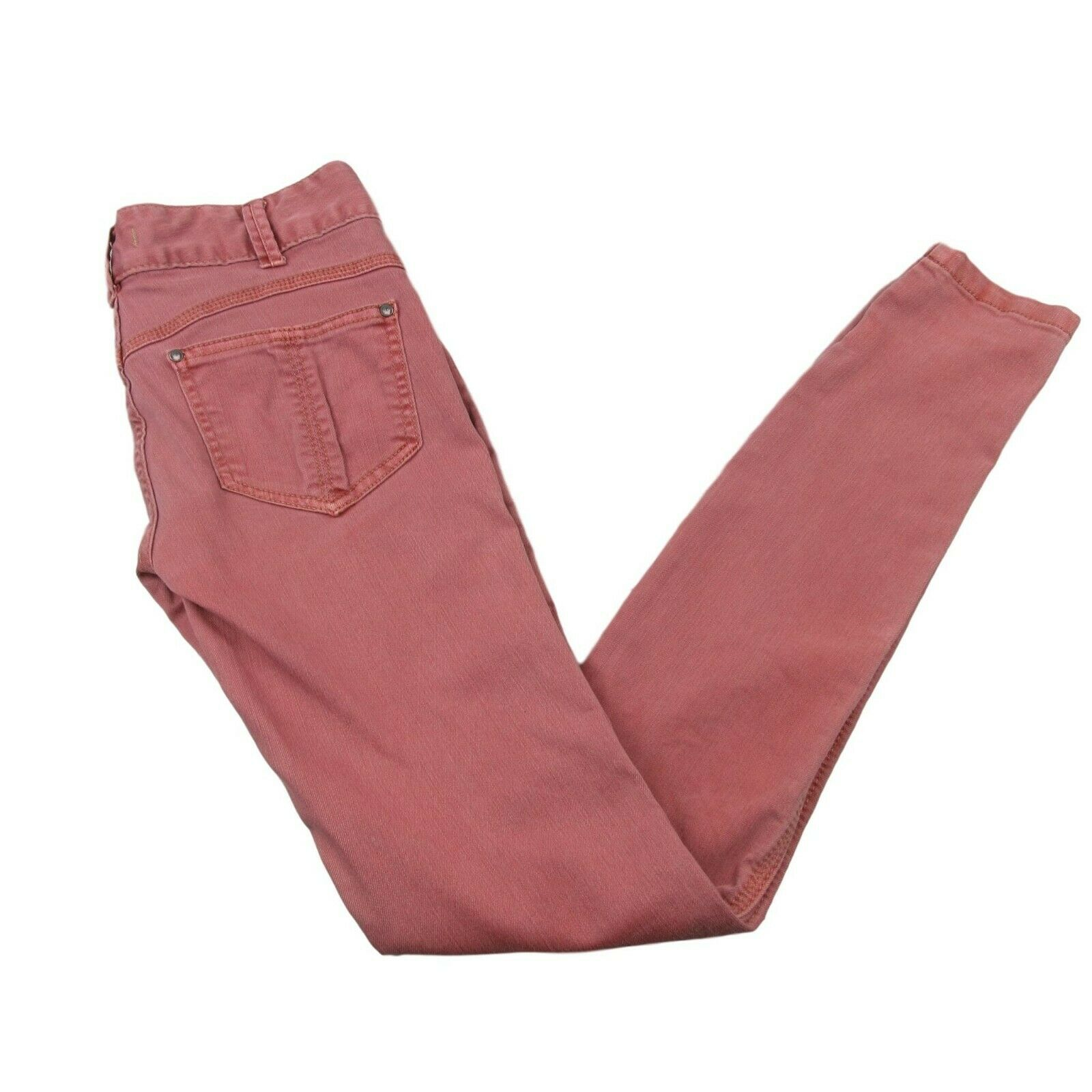 e1ab8f95f649d Free People Denim Red Rose Pink Skinny Jeans Size 24 Straight Leg ...