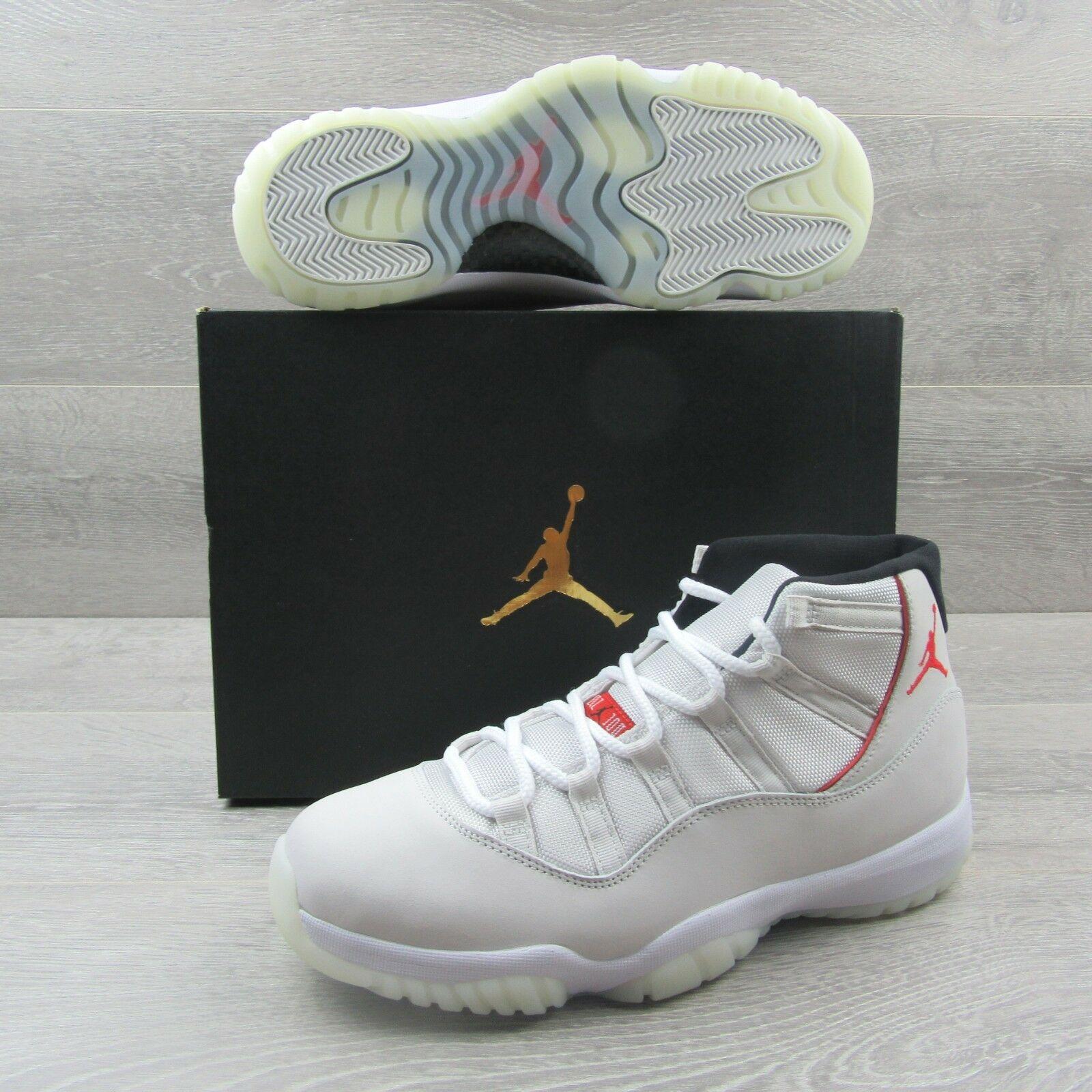 "cb85d49fdc5 Jordan Retro 11 XI ""Platinum Tint"" Mens Size 11 University Red 378037 016  New"