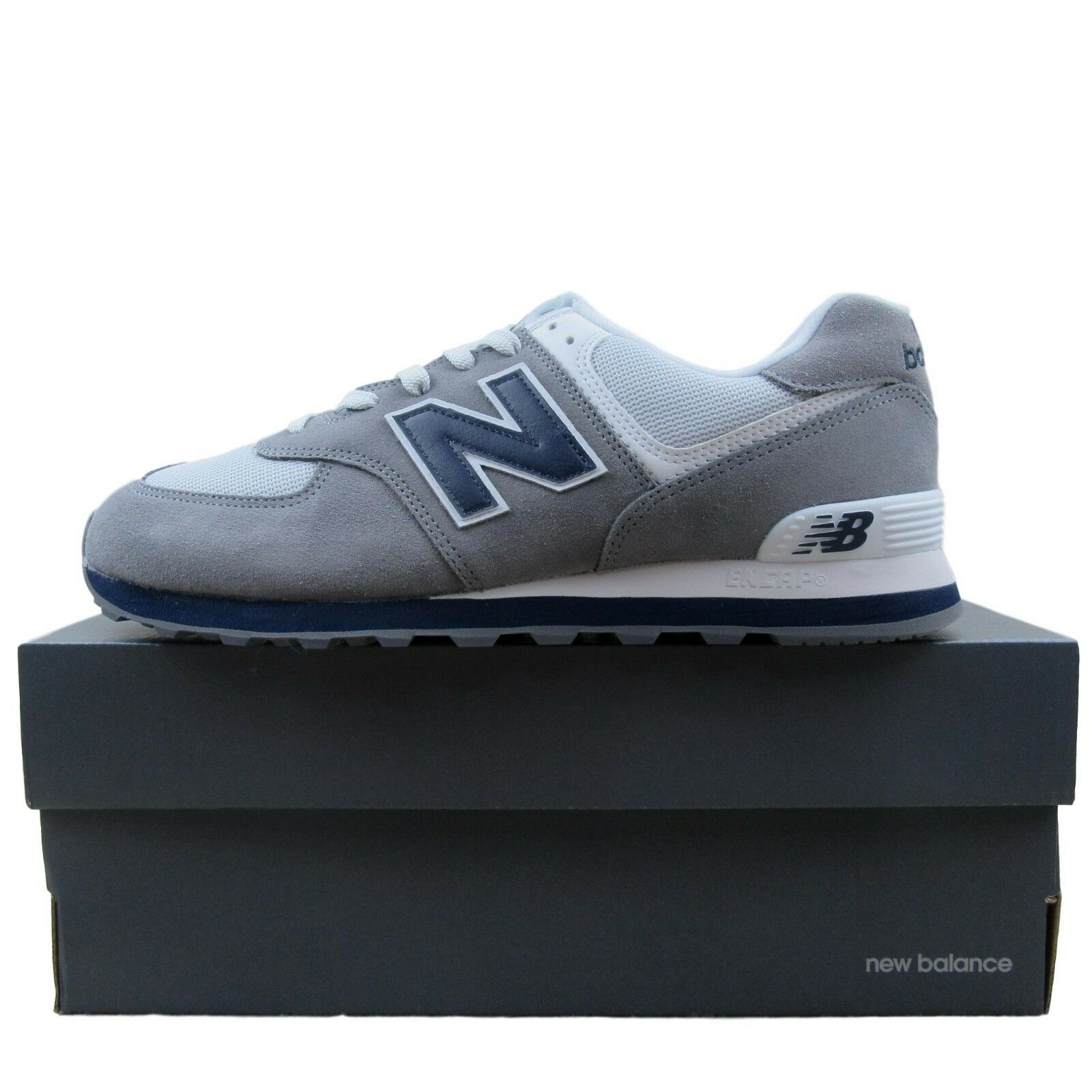 57ae43f22d8 New Balance 574 Core Plus Running Shoes Size 11 Mens Grey Navy ...
