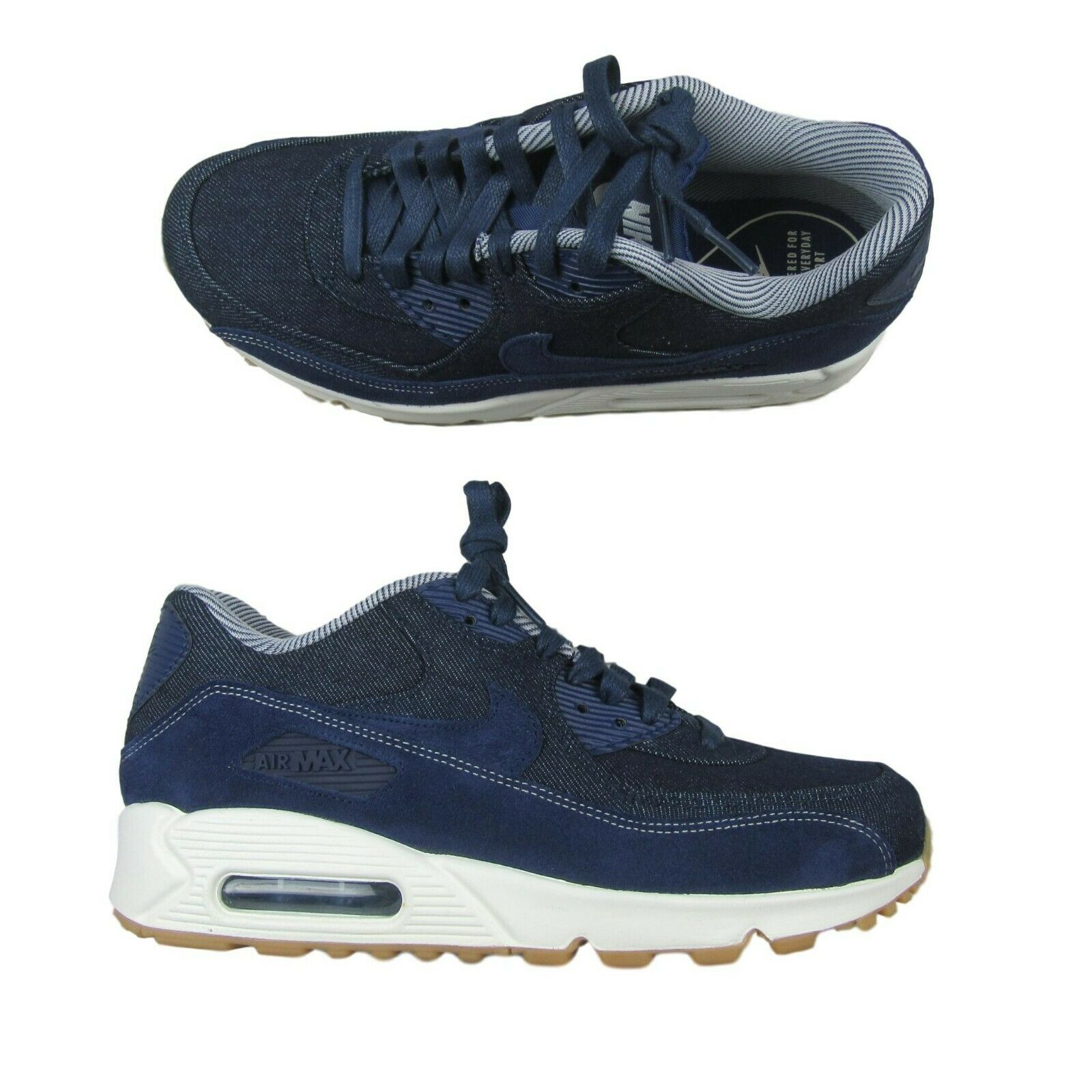 Nike Air Max 90 SE Blue Denim Pack Running Shoes Size 8.5 Womens 881105 401 New