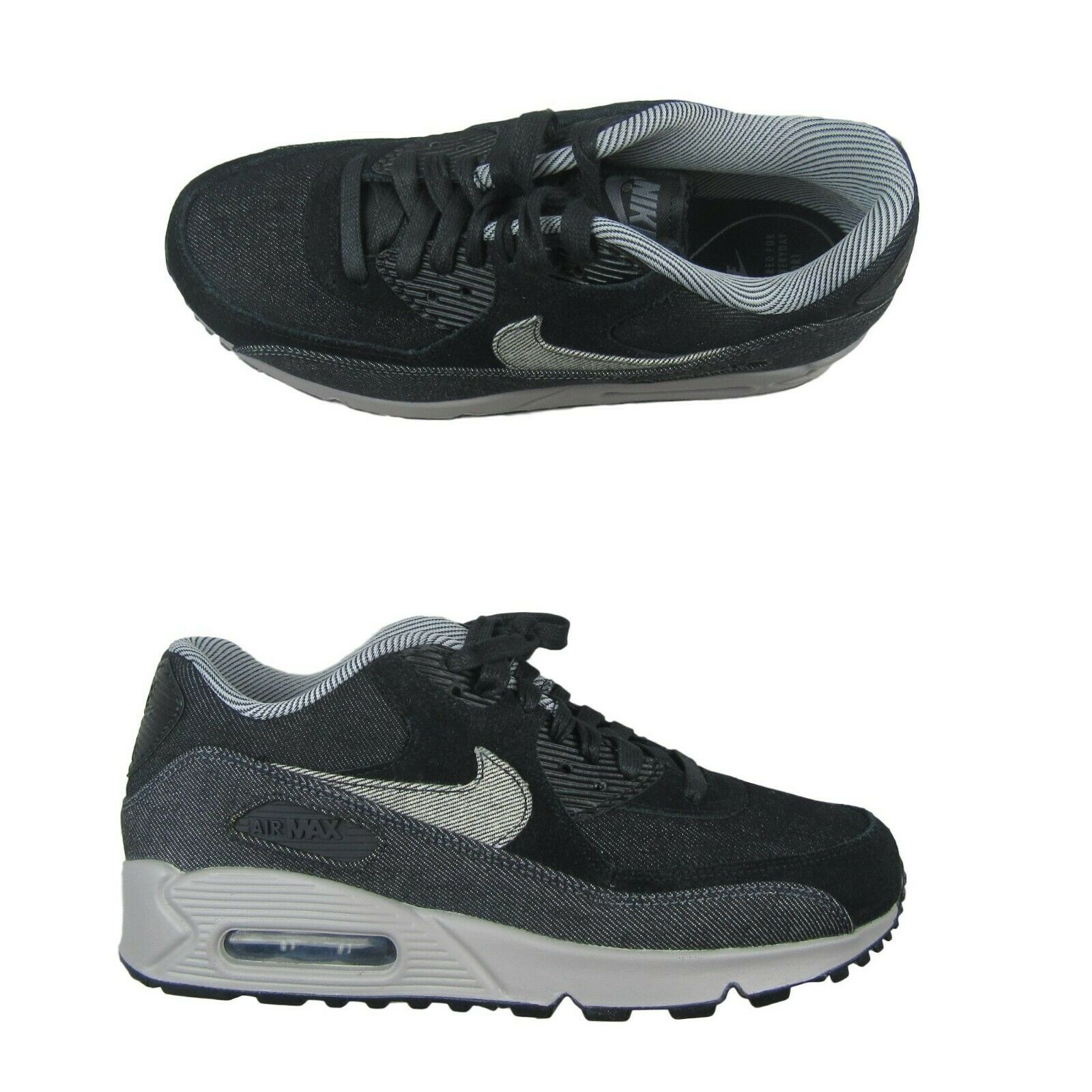 ddc812061 Nike Air Max 90 SE Running Shoes Womens Size 8.5 Black Grey 881105 ...