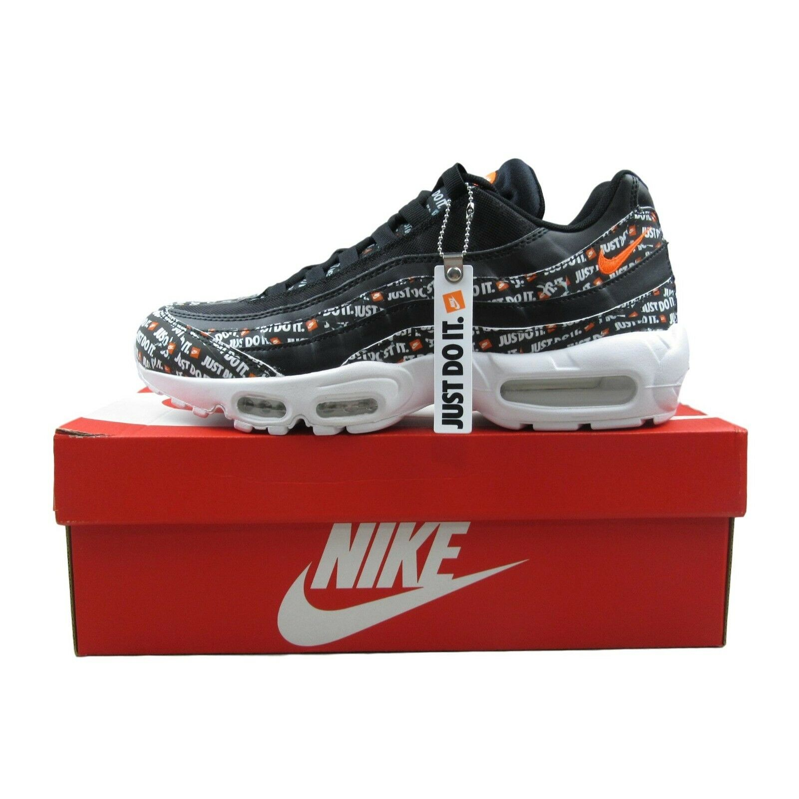 ef13f077dbc15a Nike Air Max 95 SE Black Just Do It Running Shoes Size 9 Mens AV6246 001