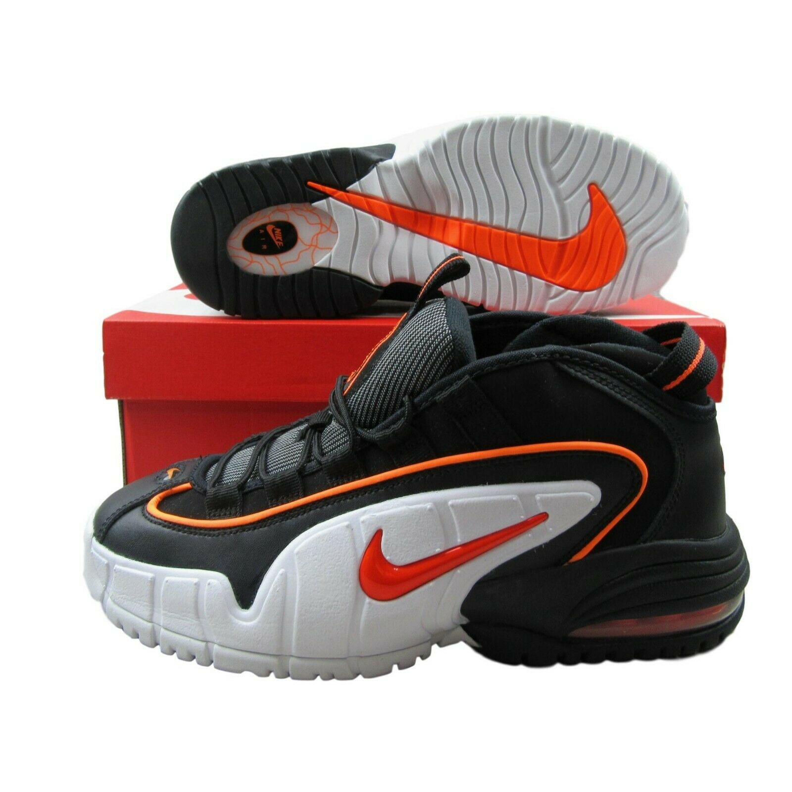 d347ae36e3 Nike Air Max Penny LE GS Size 7Y Basketball Shoes White Orange ...