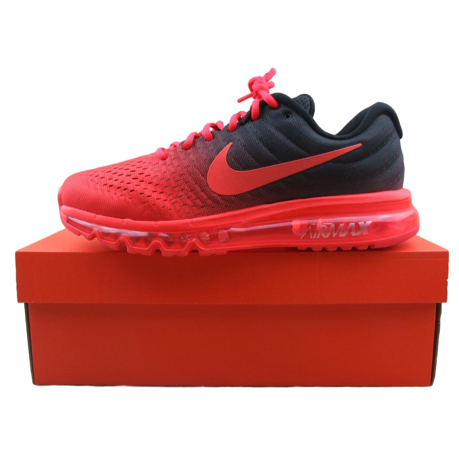 5769b59410 Nike Air Max Running Shoes Size 9.5 Mens Black Crimson 849559 600 ...