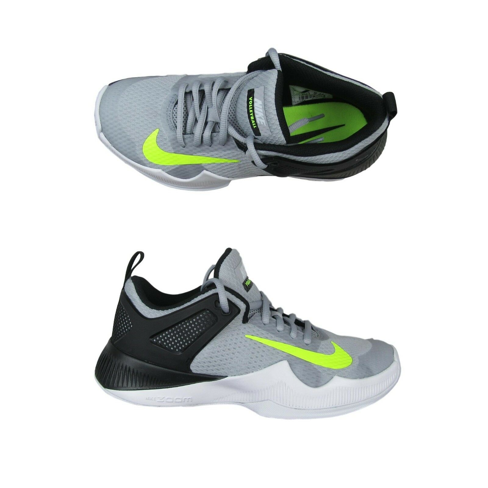 3a9b15cdae95 Nike Air Zoom HyperAce Womens Size 8.5 Volleyball Shoes Gray Volt ...