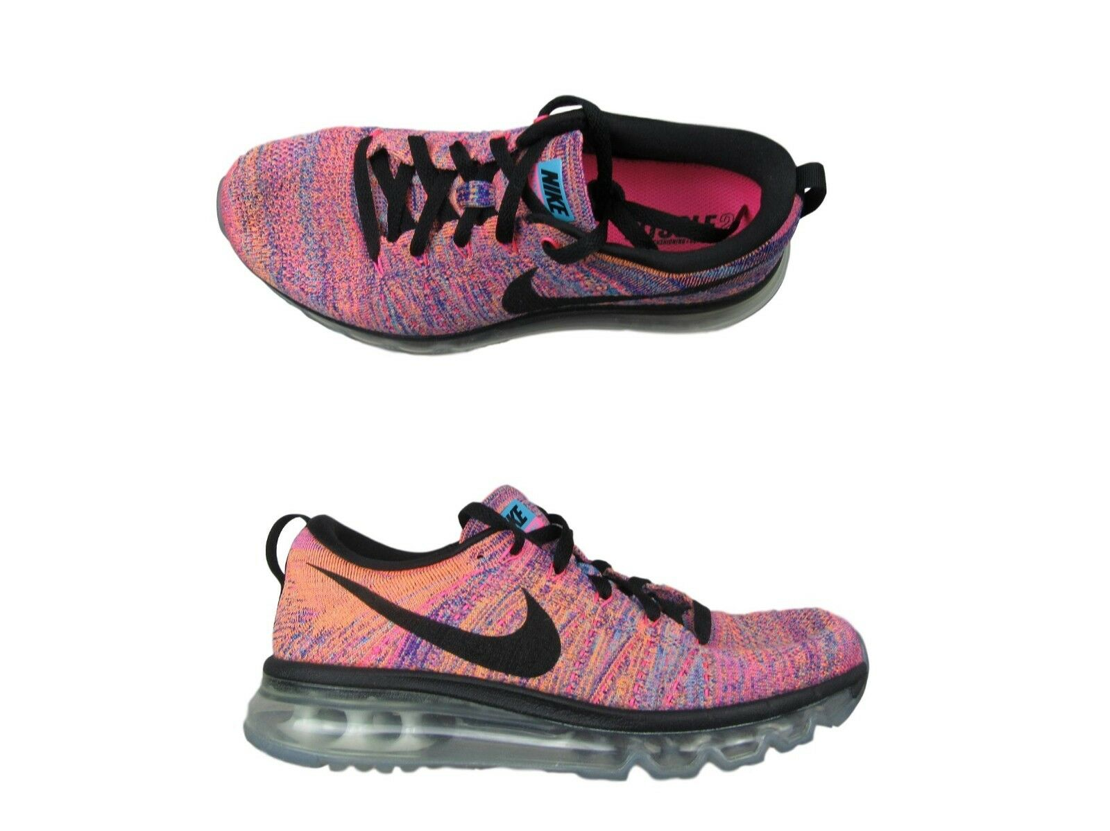 cb8ccbcbbb2e Nike Flyknit Max Running Shoes Size 8.5 Concord Gamma Blue Pink ...