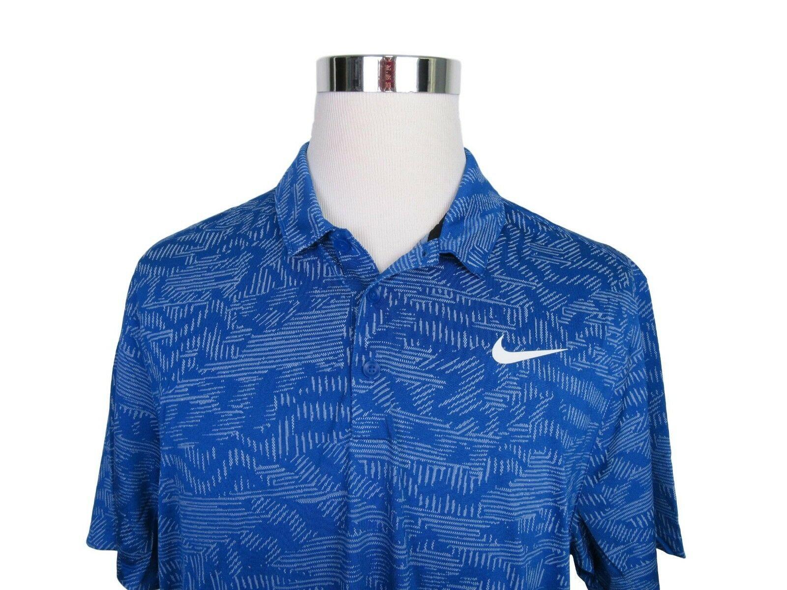 35a8bd43d Nike Golf Breathe Jacquard Blue Polo Shirt Size XL Men's Short Sleeve New  $70