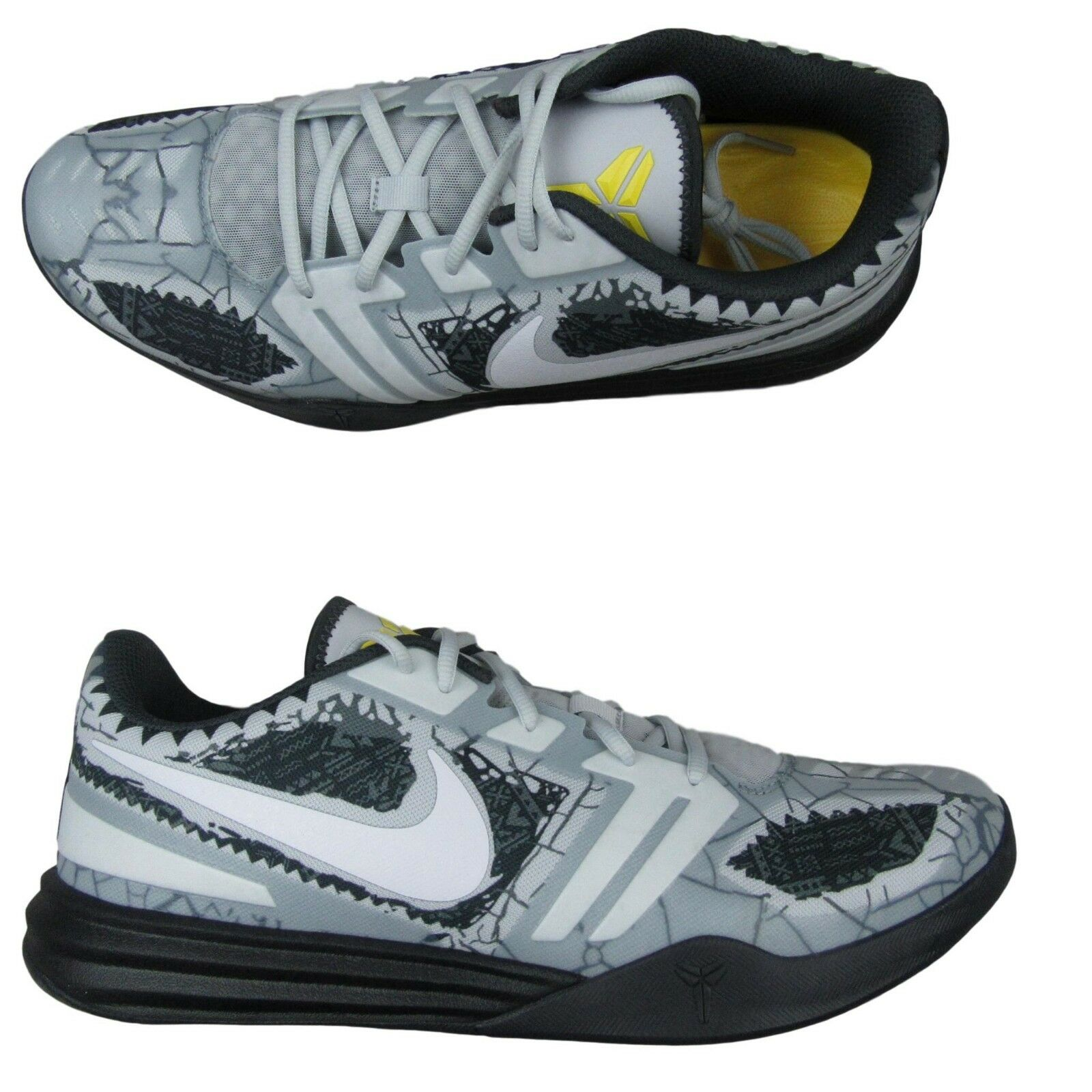 6b2d92721fdf Nike Kobe Mentality Cracked Pavement Basketball Shoes Size 13 Grey ...