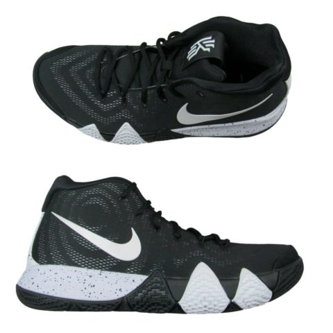 13c9f18aaa6c Nike Kyrie 4 TB Mens Basketball Shoes Size 10 Oreo Black White ...