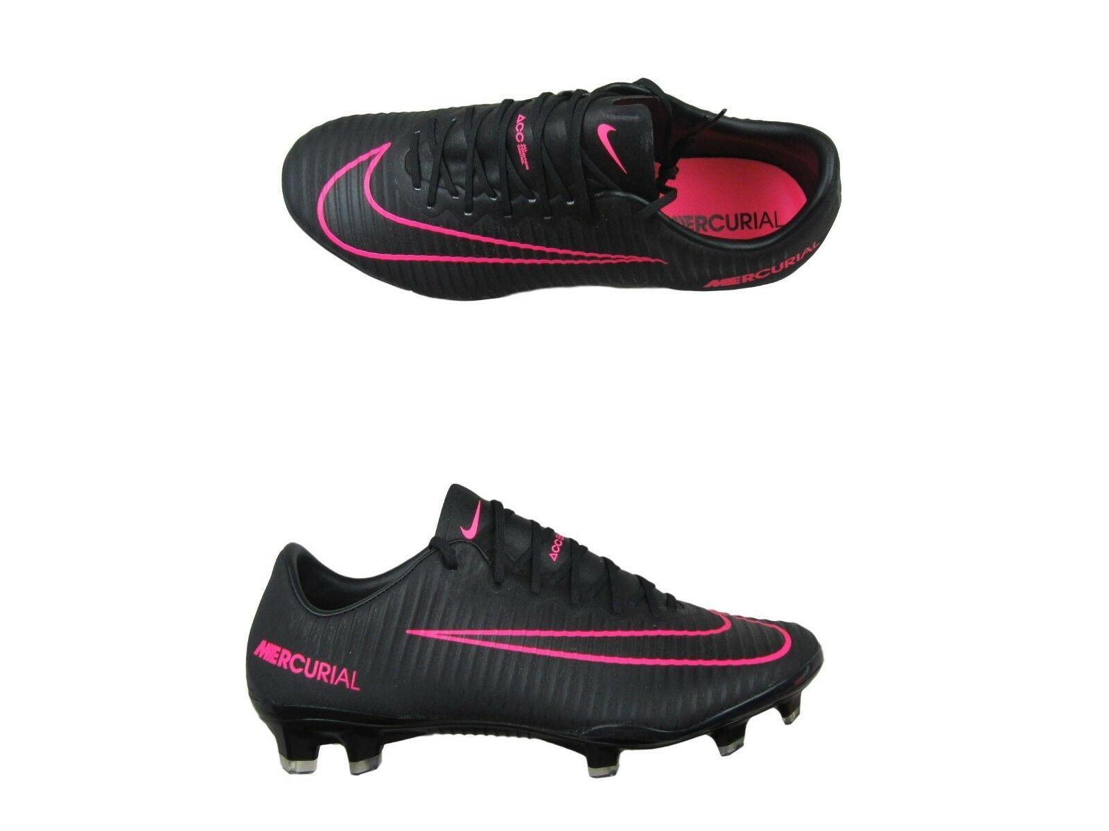 Nike Mercurial Vapor XI FG Size 8 Mens Soccer Cleats Black Pink ... 8579faf6ed68