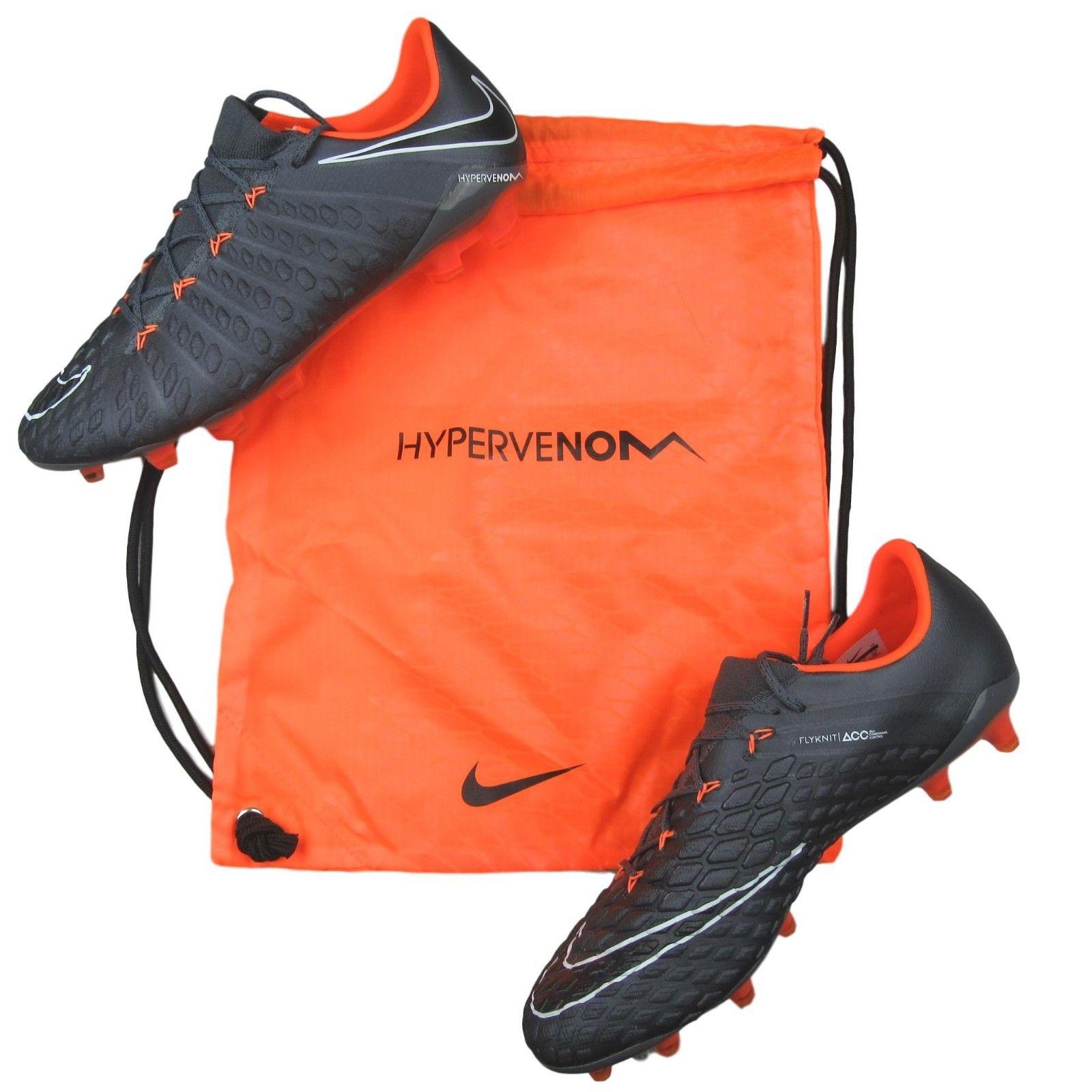 d3d936360fe9 Nike Phantom Elite 3 III FG Soccer Cleats Size 11 Dark Grey Orange ...