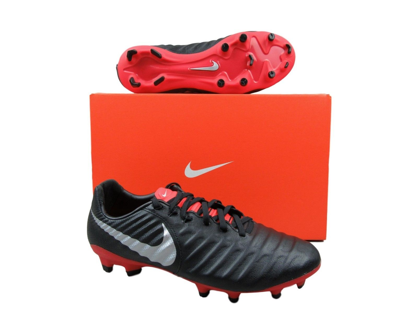 0b7d2a826 Nike Tiempo Legend 7 Pro FG Soccer Cleats Black Red Mens AH7241 006 ...