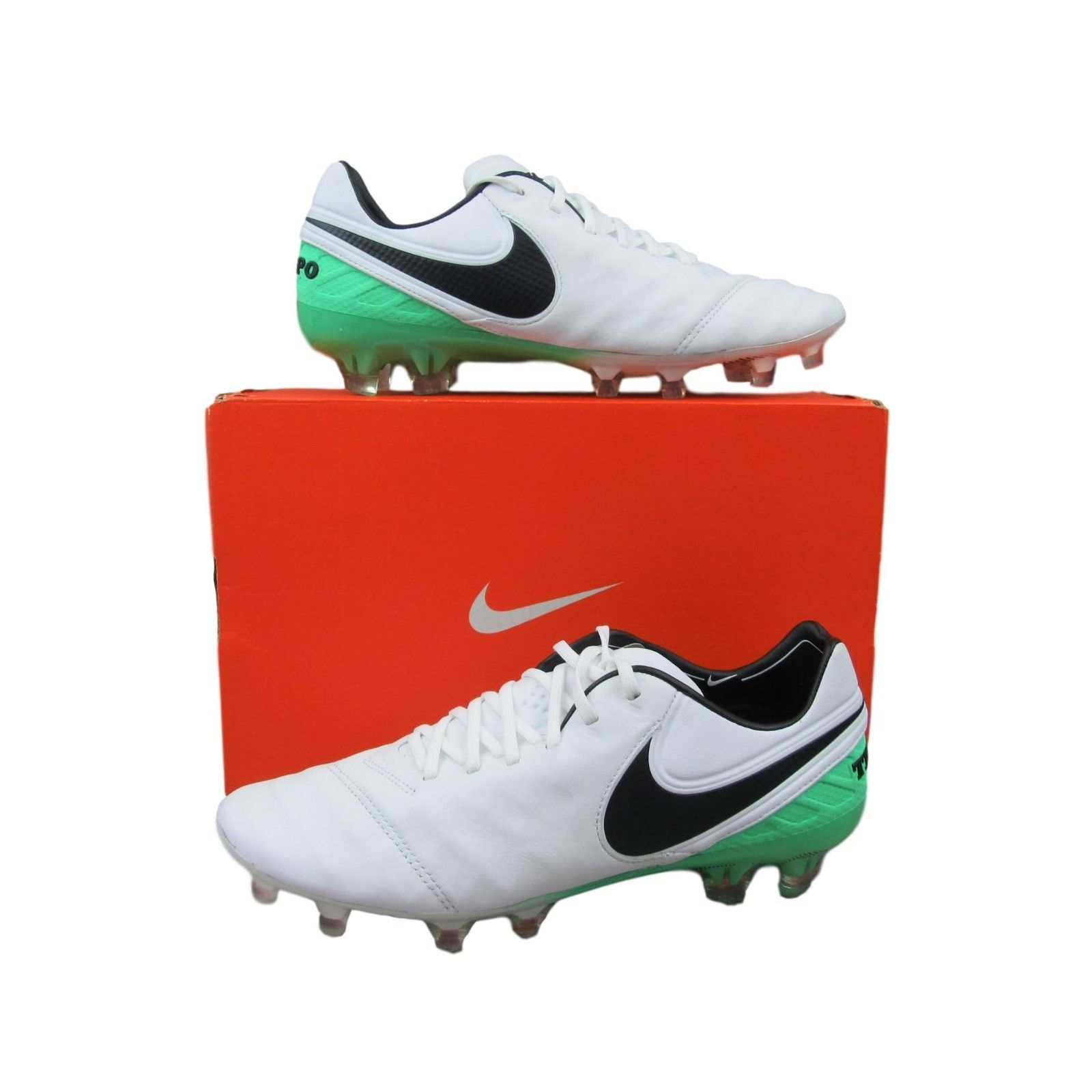 21ed5ee5ab18 Nike Tiempo Legend VI FG Soccer Cleats Size 7 Mens White Green ...