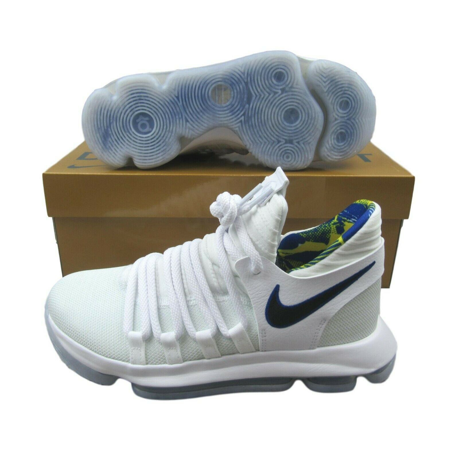 400970b8ec59 Nike Zoom KD 10 Limited Golden State Warriors Shoes White Size 6Y ...